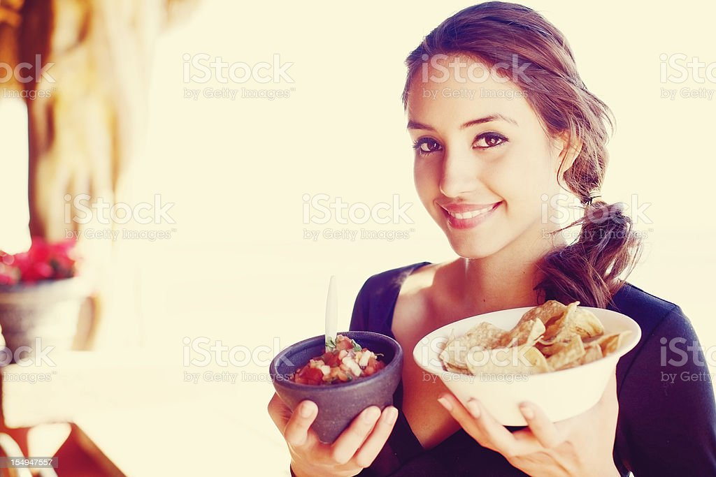 young adult Mexican female royalty-free stock photo