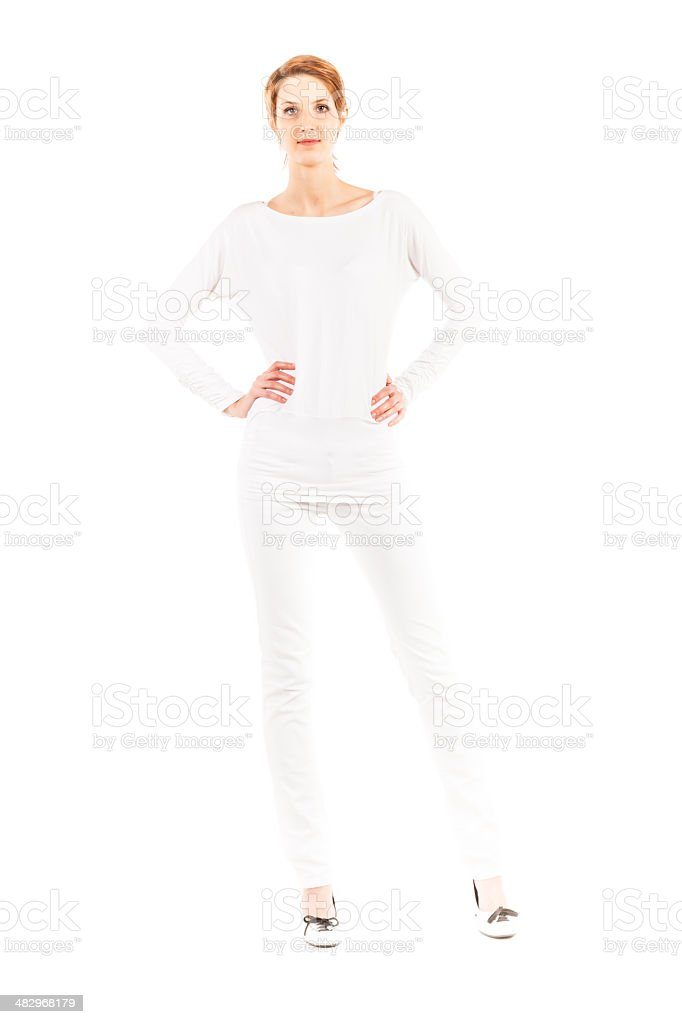 young adult on white background royalty-free stock photo