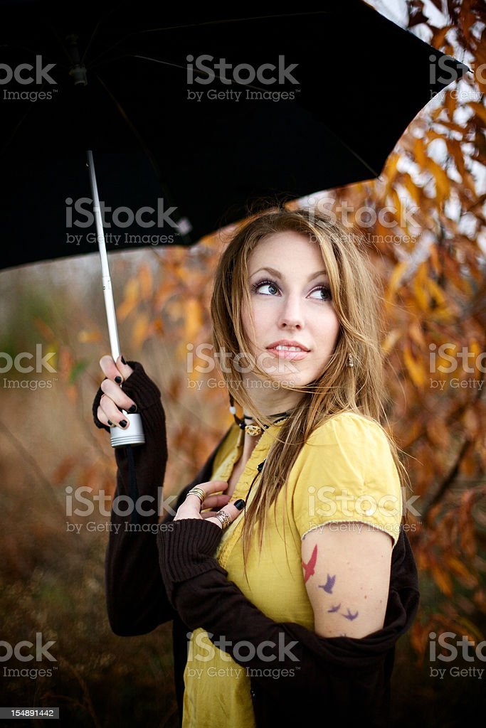 young adult outdoor fashion female stock photo
