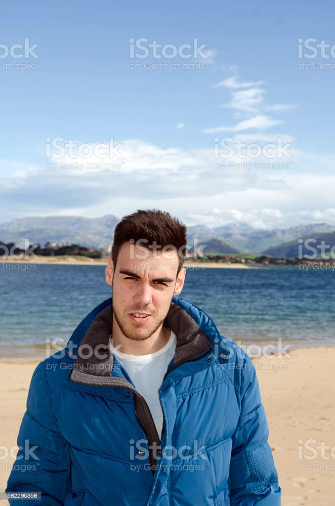 Young adult portrait stock photo