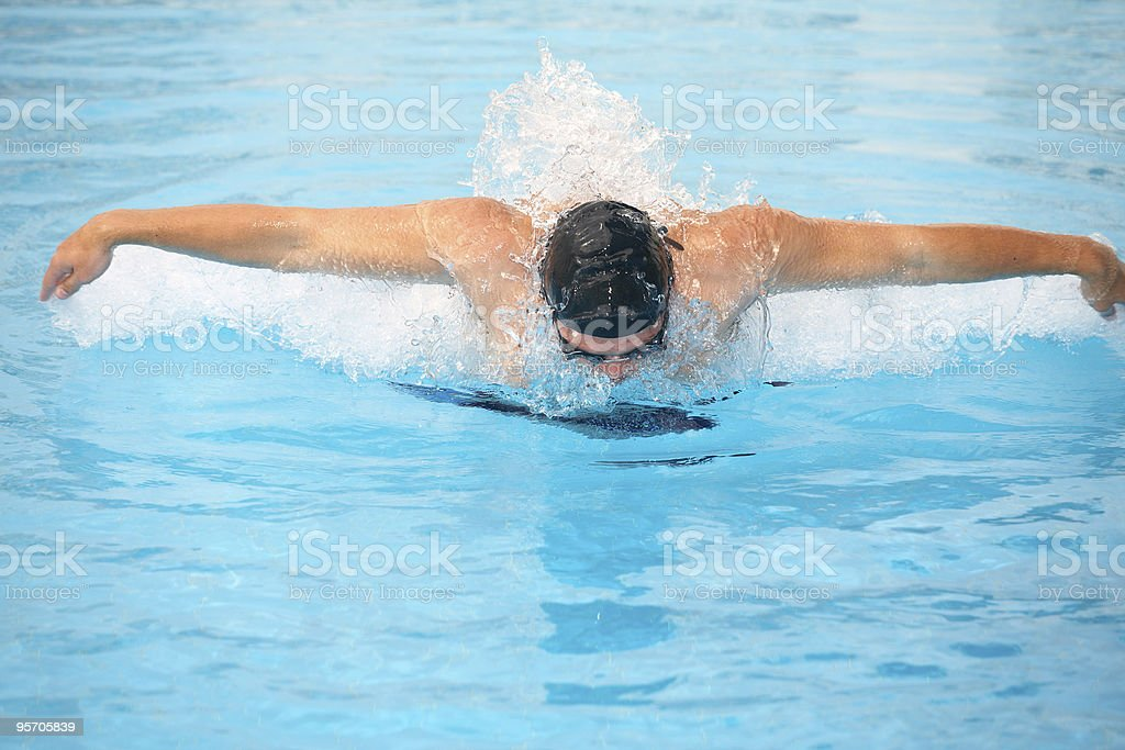Young adult swimmer royalty-free stock photo