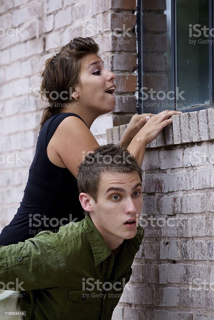 young adult window portraits royalty-free stock photo