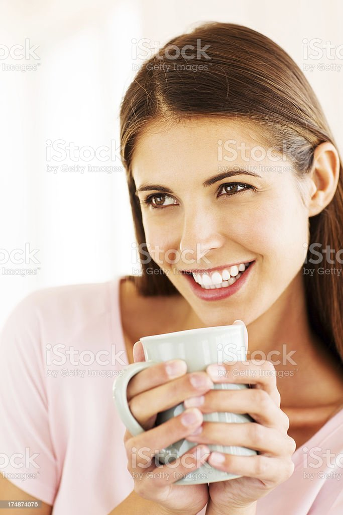 Young Adult With Coffee Cup royalty-free stock photo