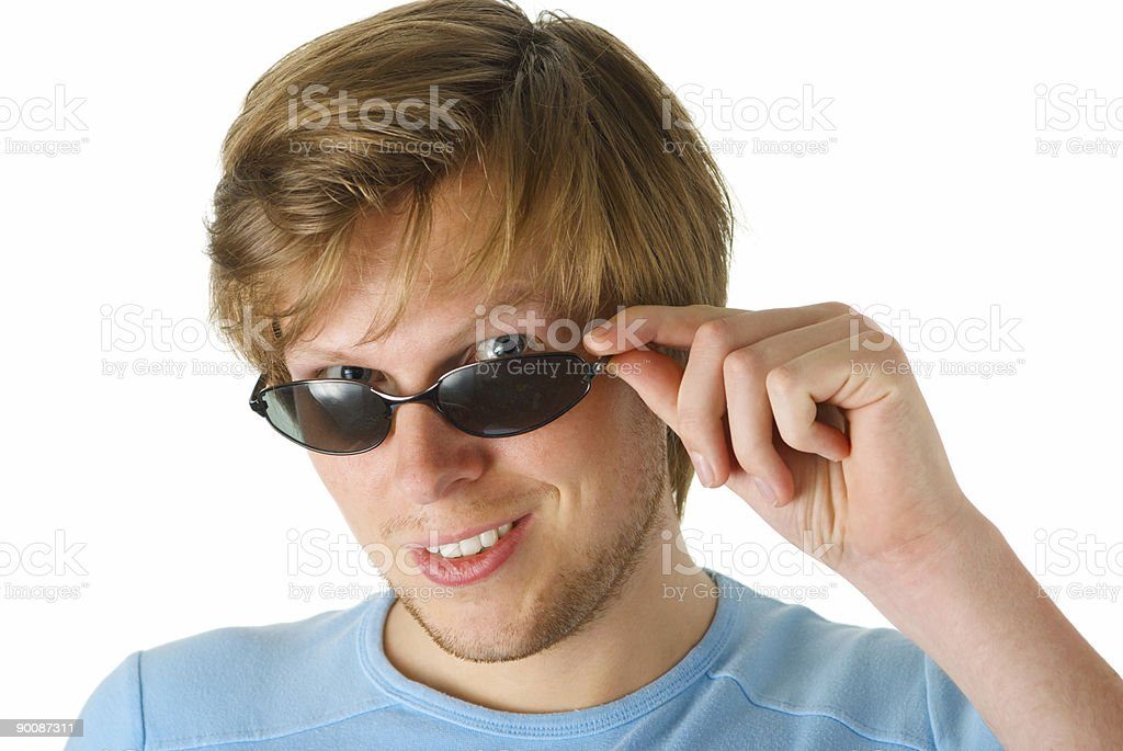 young adult with sun glasses and a flirty look royalty-free stock photo