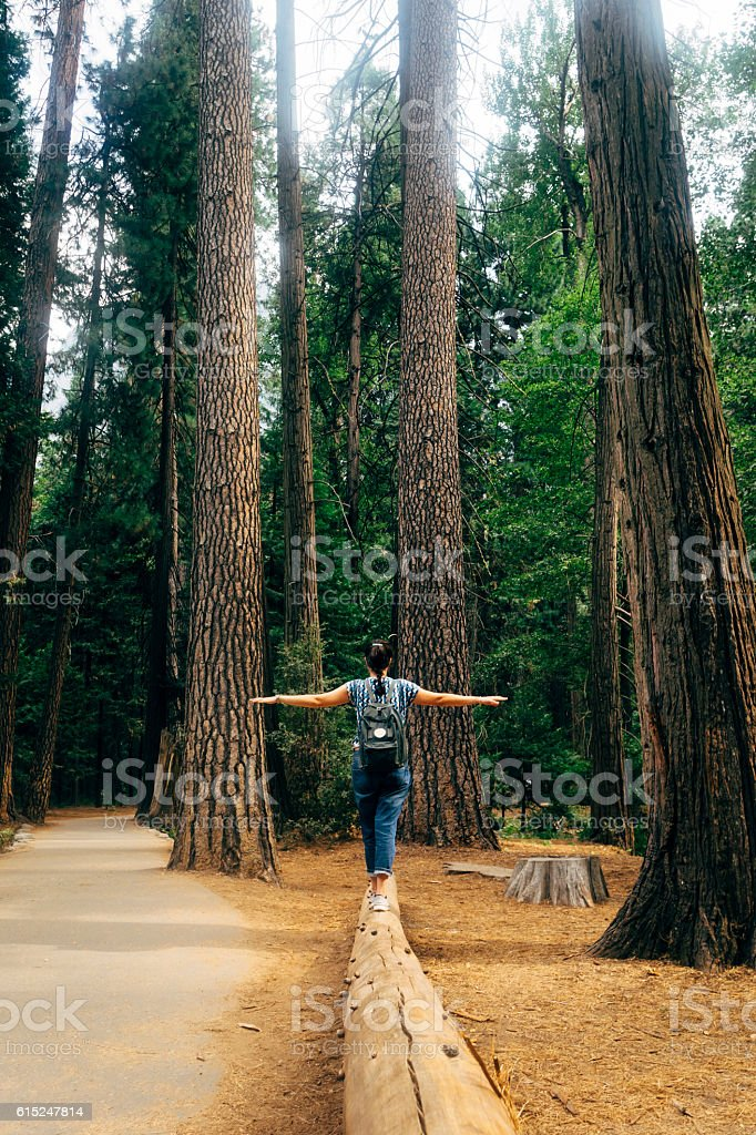 Young Adult Woman In The Nature stock photo