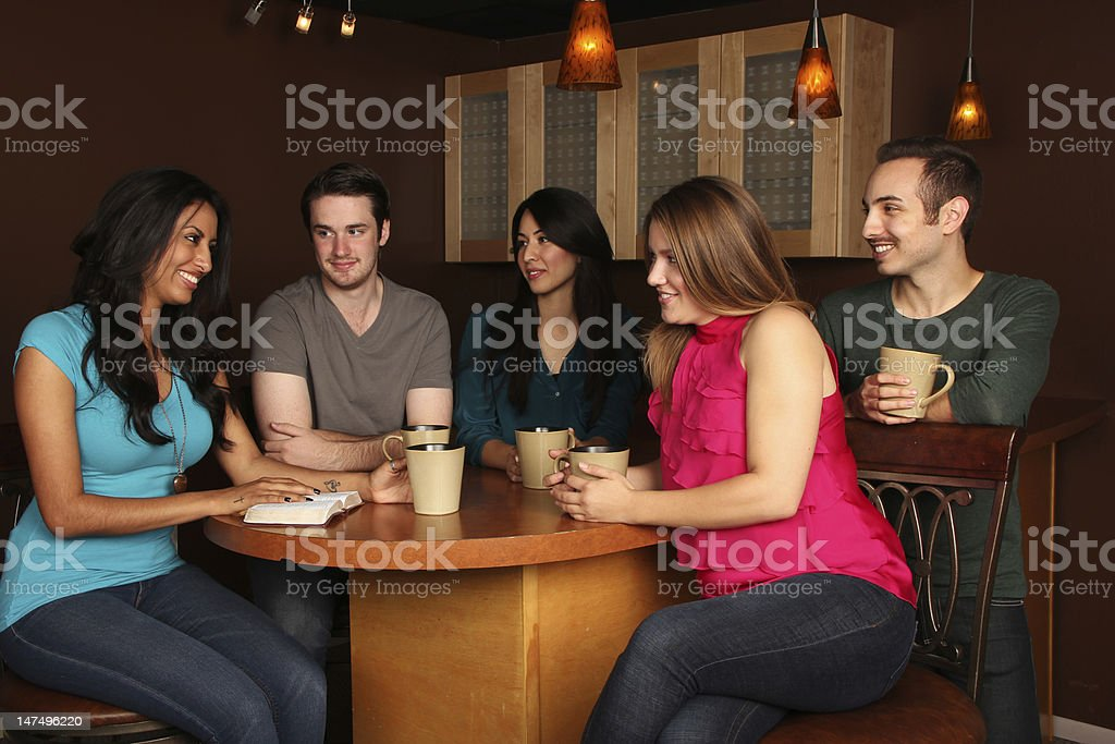 Young Adults Bible Study stock photo