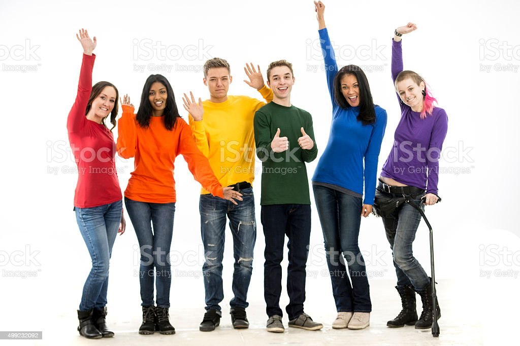 Young Adults Celebrating Gay Pride stock photo