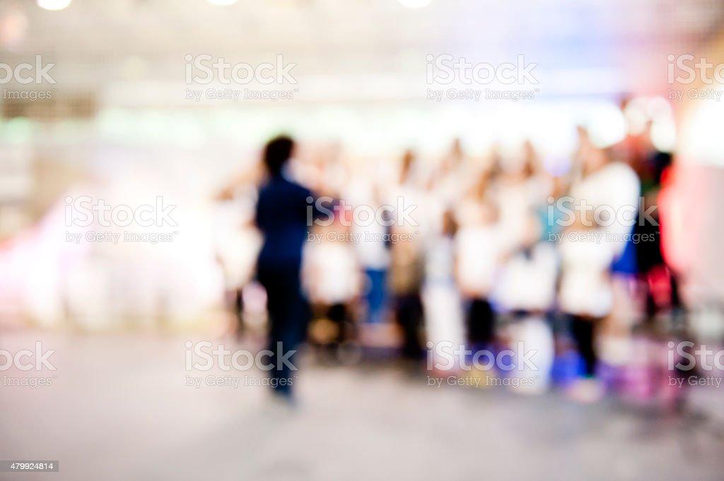 Young adults church choir stock photo