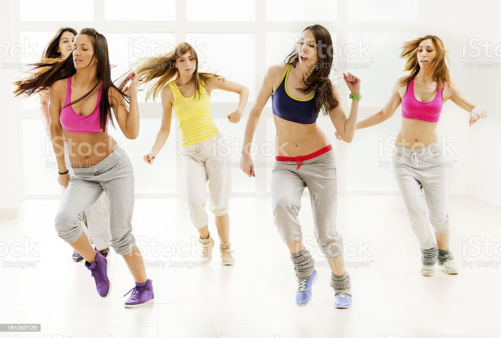 Young adults dancing. royalty-free stock photo