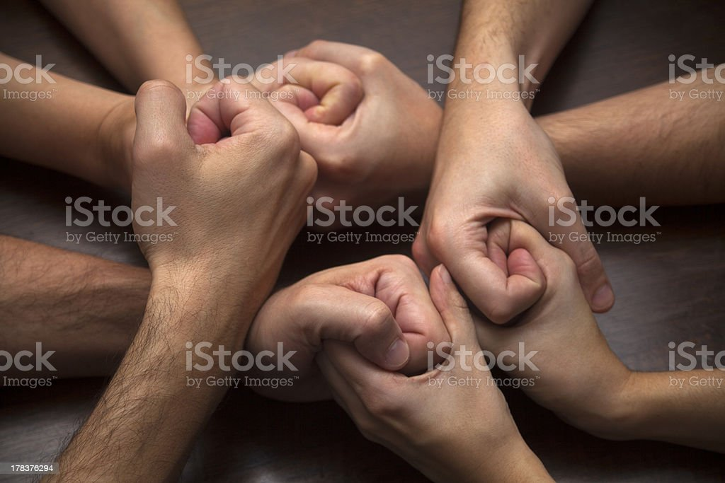 Young adultsA' hands stock photo