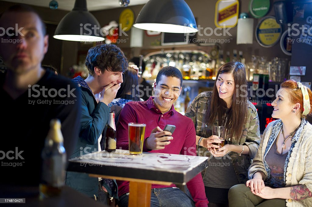 young adults in the bar royalty-free stock photo