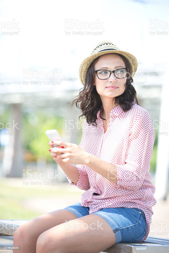 Young Adults Socialising in the Urban City stock photo
