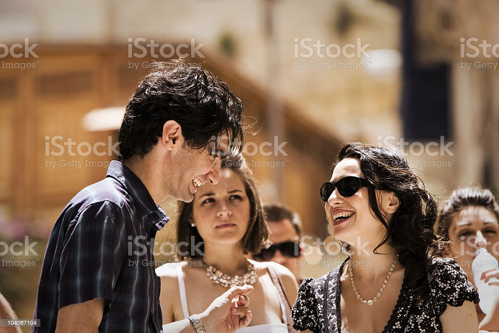 Young Adults Socialising stock photo
