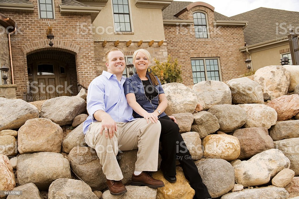 Young Affluent Couple at Home royalty-free stock photo