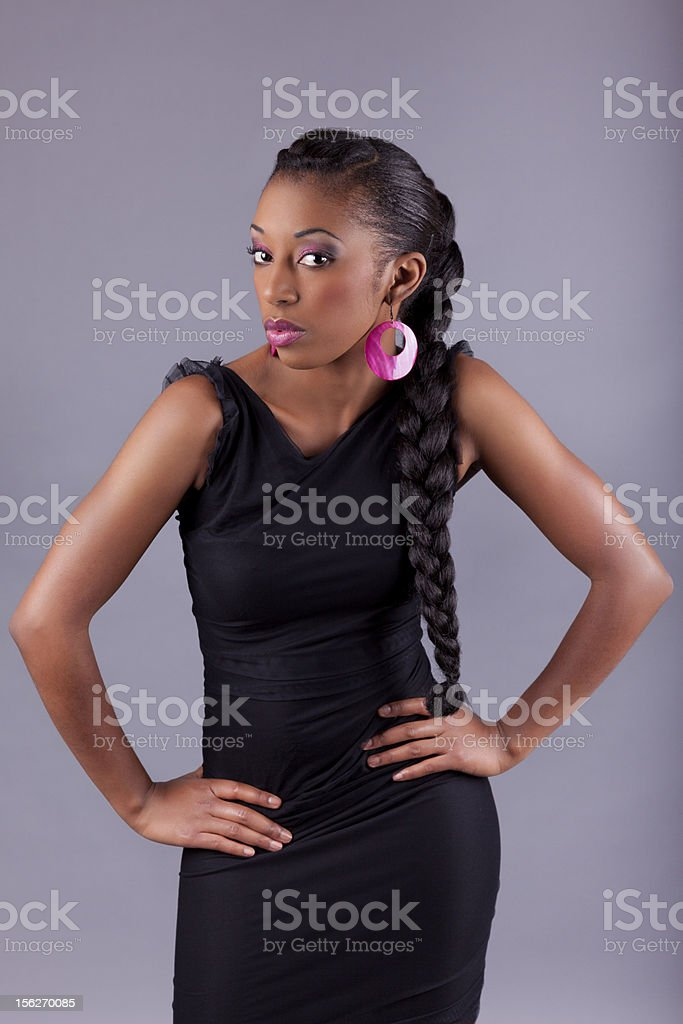 Young African amercian woman posing royalty-free stock photo