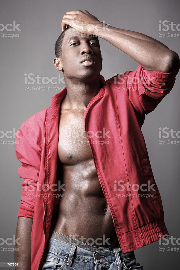 Young African American Male Forgets royalty-free stock photo