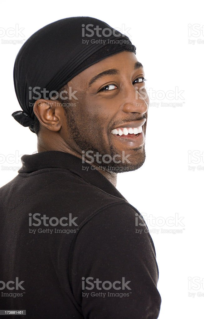 Young African American Male Laughing royalty-free stock photo