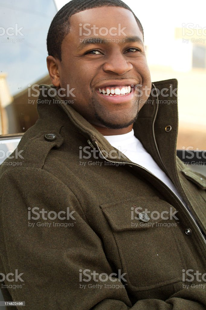 Young African American Man stock photo