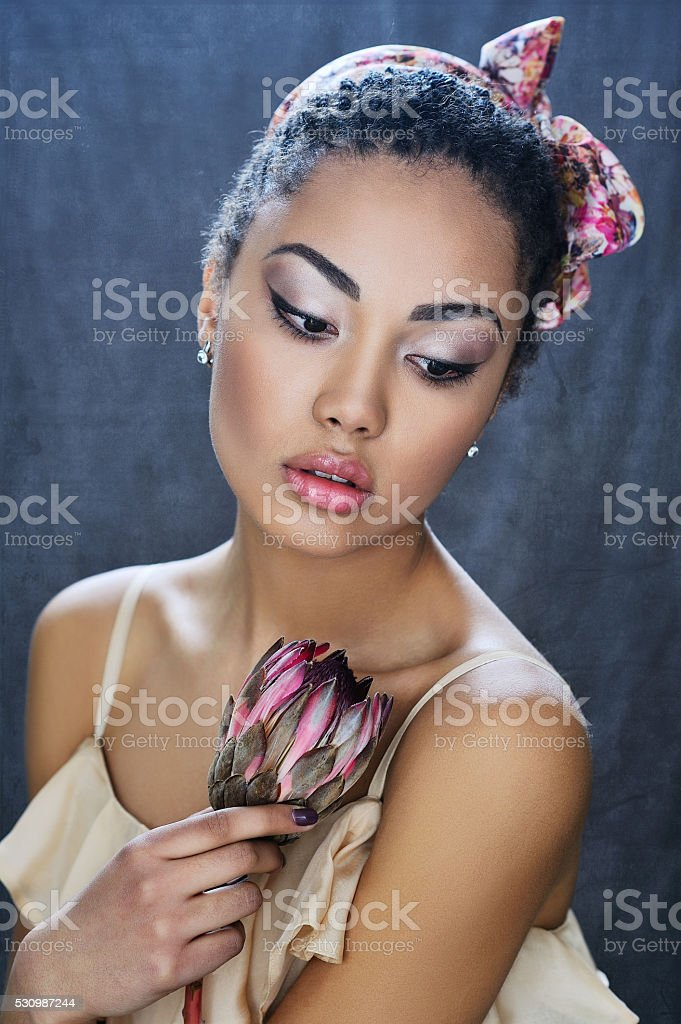 Young African beauty stock photo