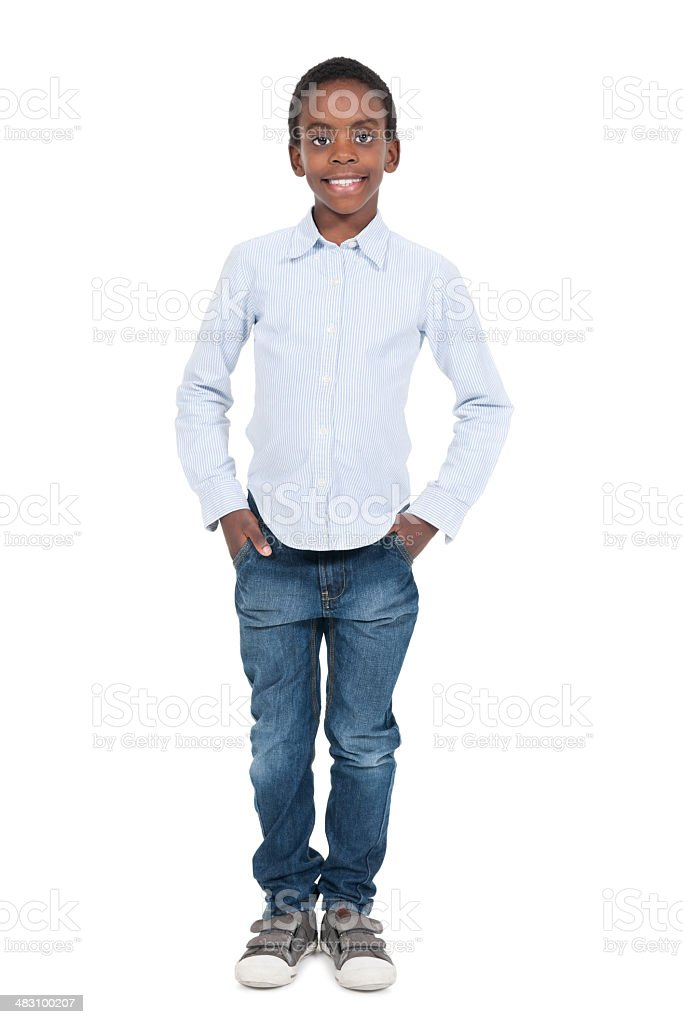 Young African Boy in Casuals royalty-free stock photo