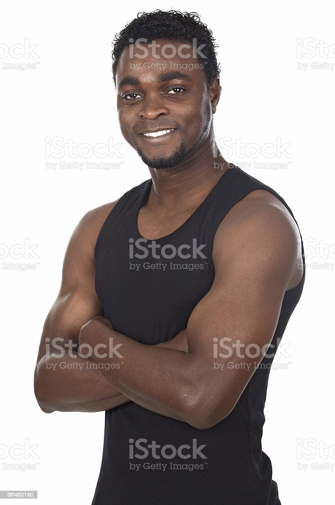 young African boy stock photo