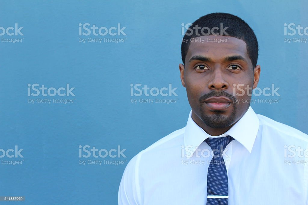 Young African entrepreneurial achiever looking confident stock photo
