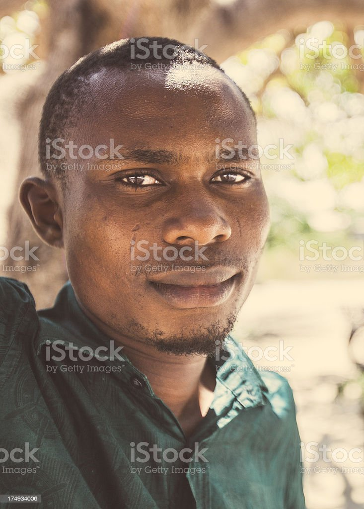 Young african man portrait. royalty-free stock photo