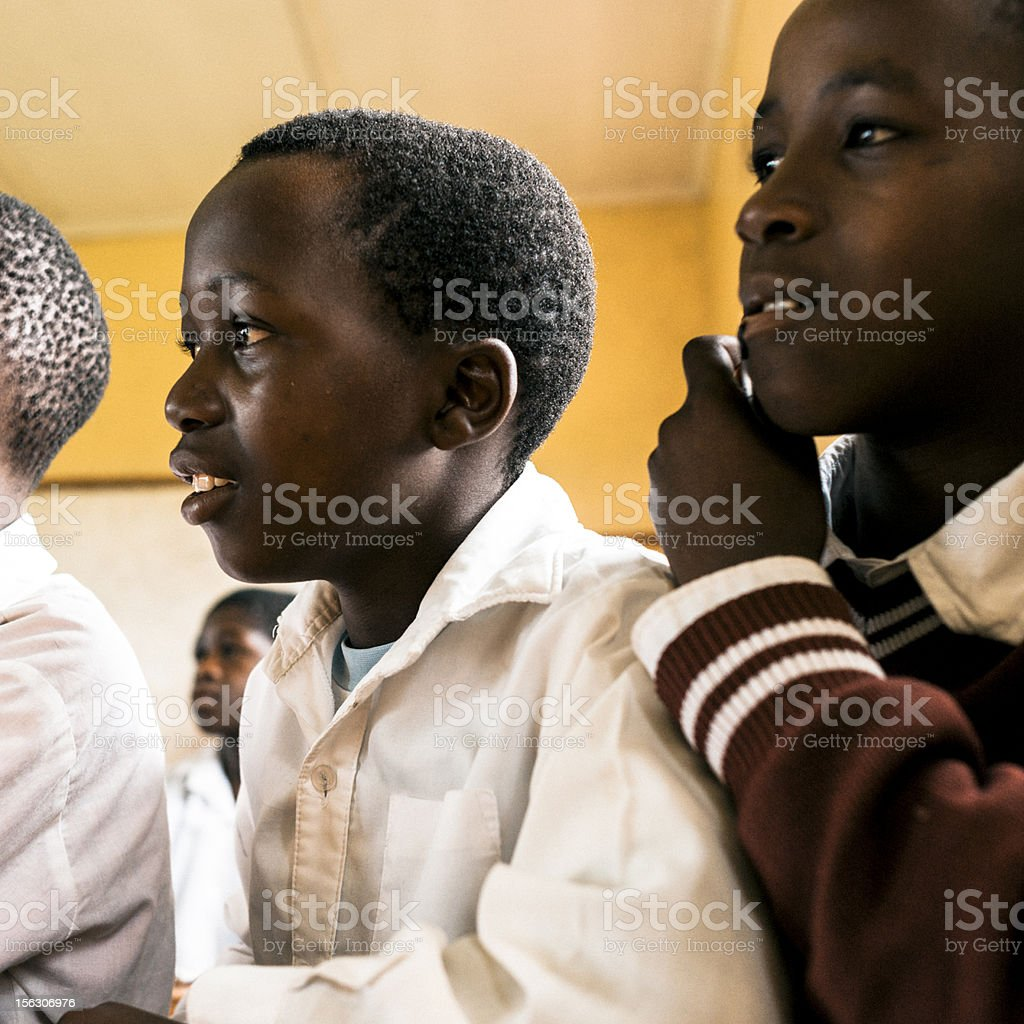 Young African students in Classroom royalty-free stock photo