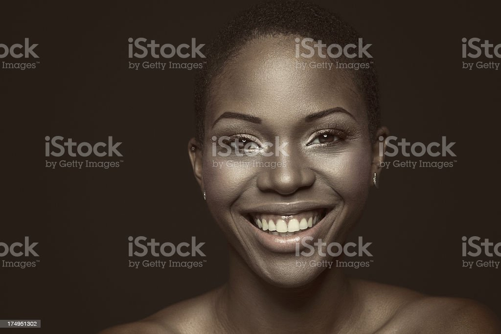 Young African Woman Smiling royalty-free stock photo