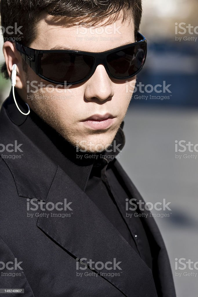 Young agent stock photo