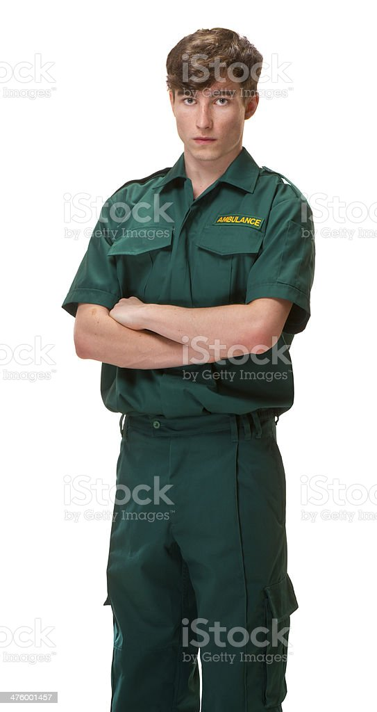 young ambulance worker royalty-free stock photo