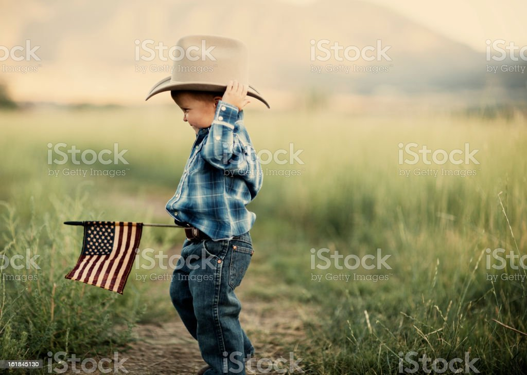 Young American Cowboy royalty-free stock photo