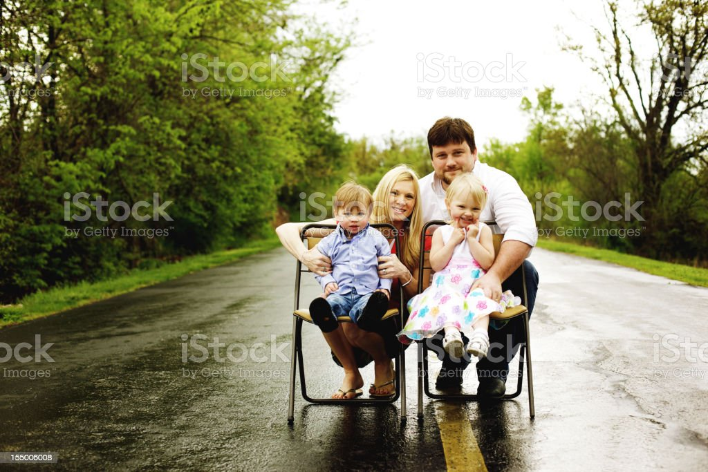 young american family outdoors early spring day royalty-free stock photo