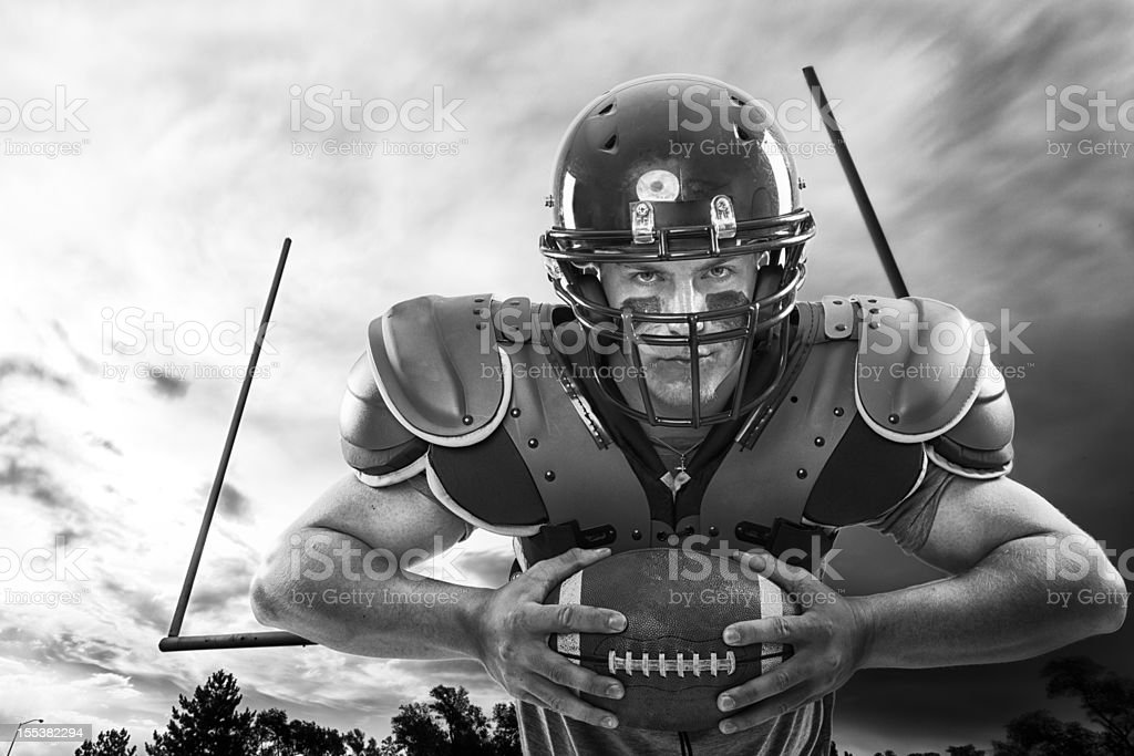 Young American Football Player stock photo