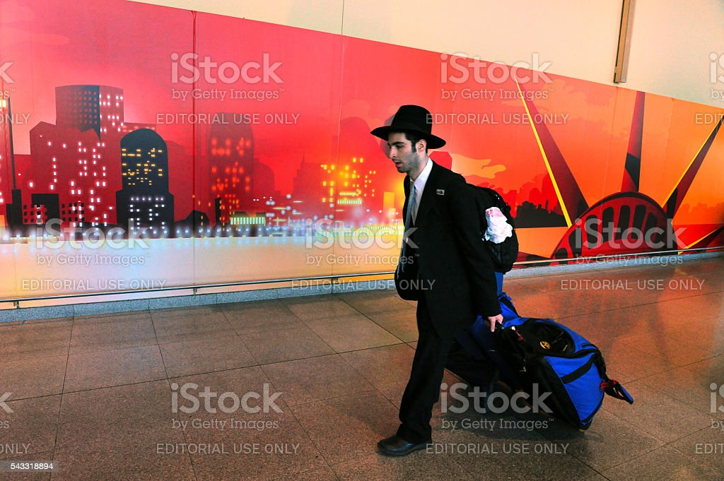 Young American Jewish man stock photo
