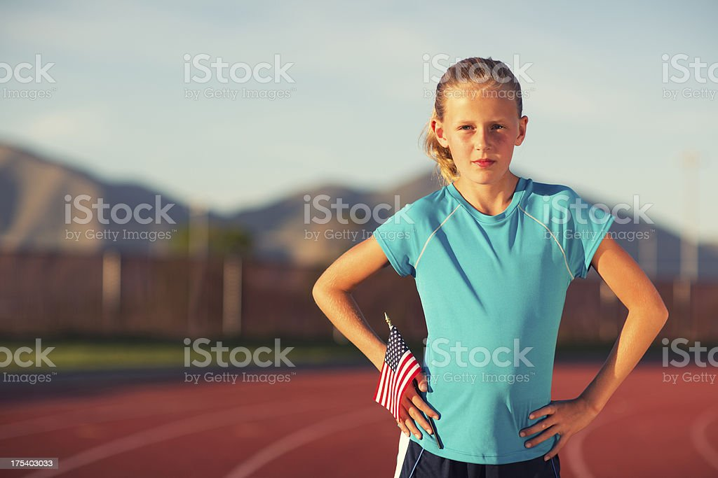 Young American Runner royalty-free stock photo