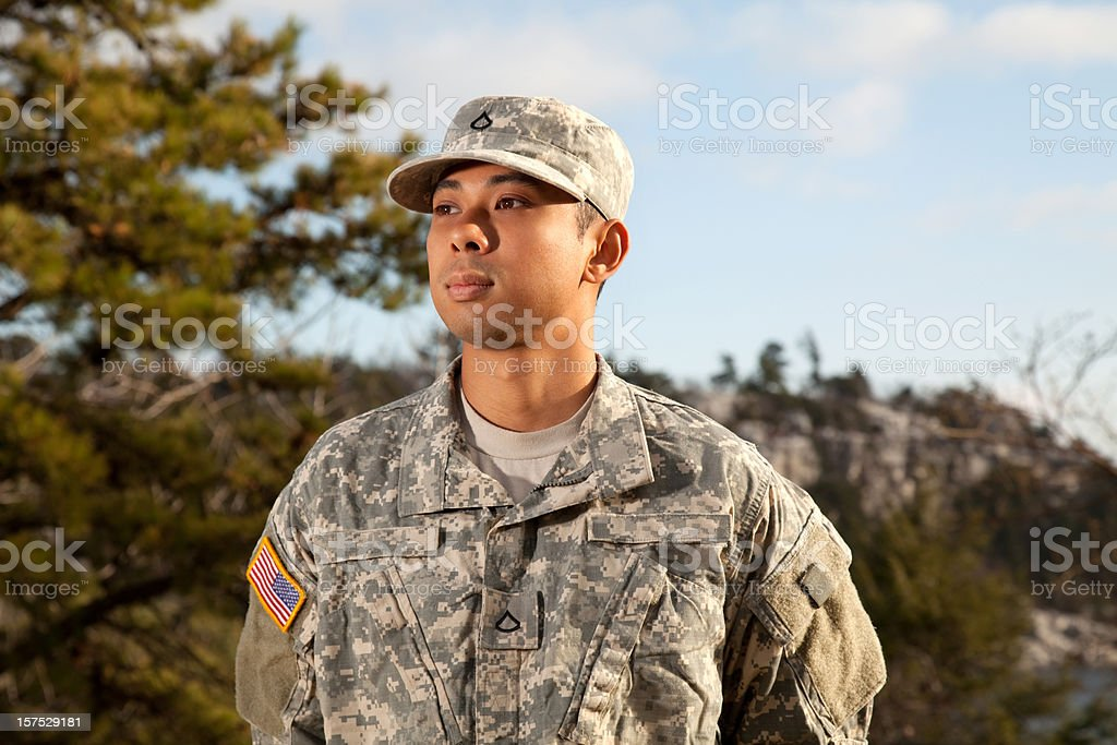 Young American Soldier royalty-free stock photo