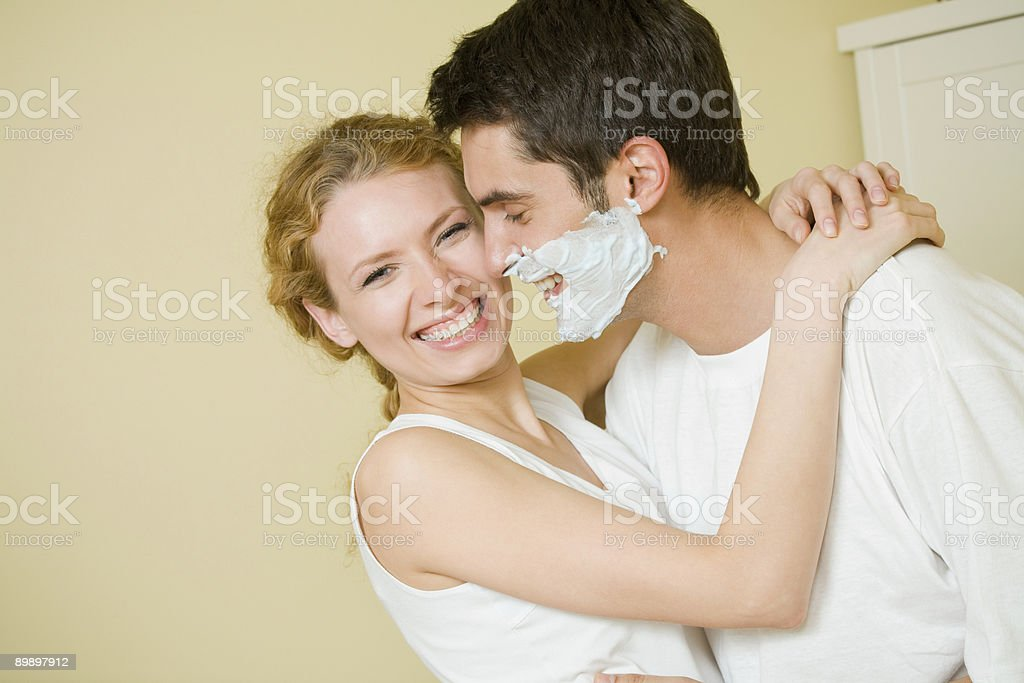Young amorous couple having a fun together at home royalty-free stock photo