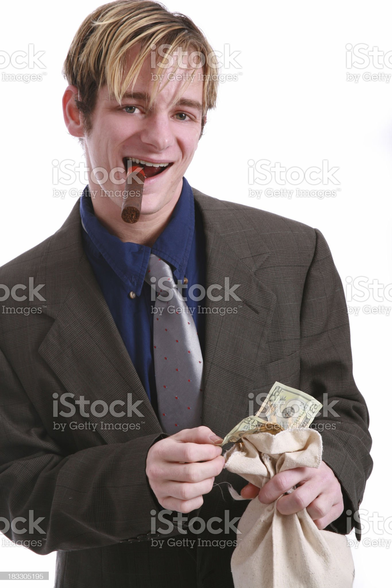 Young & Rich royalty-free stock photo