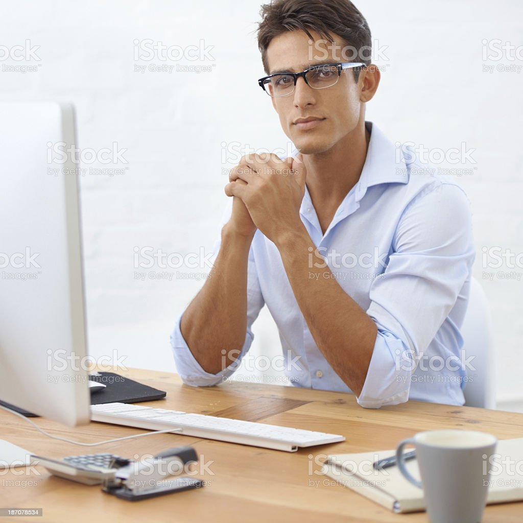 Young and ambitious stock photo