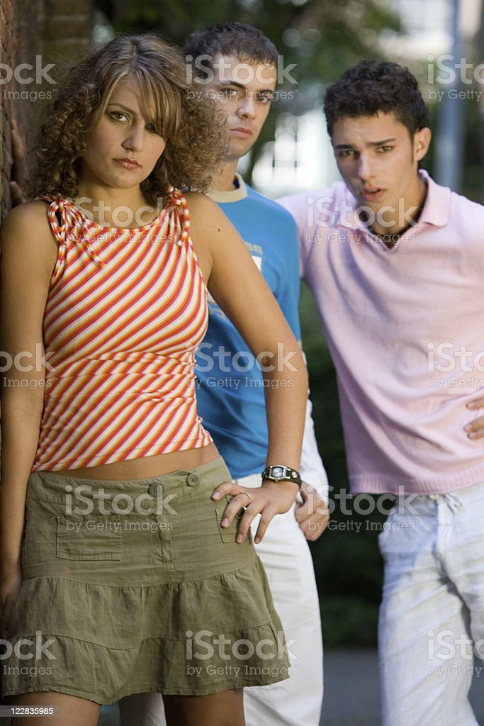 young and angry stock photo