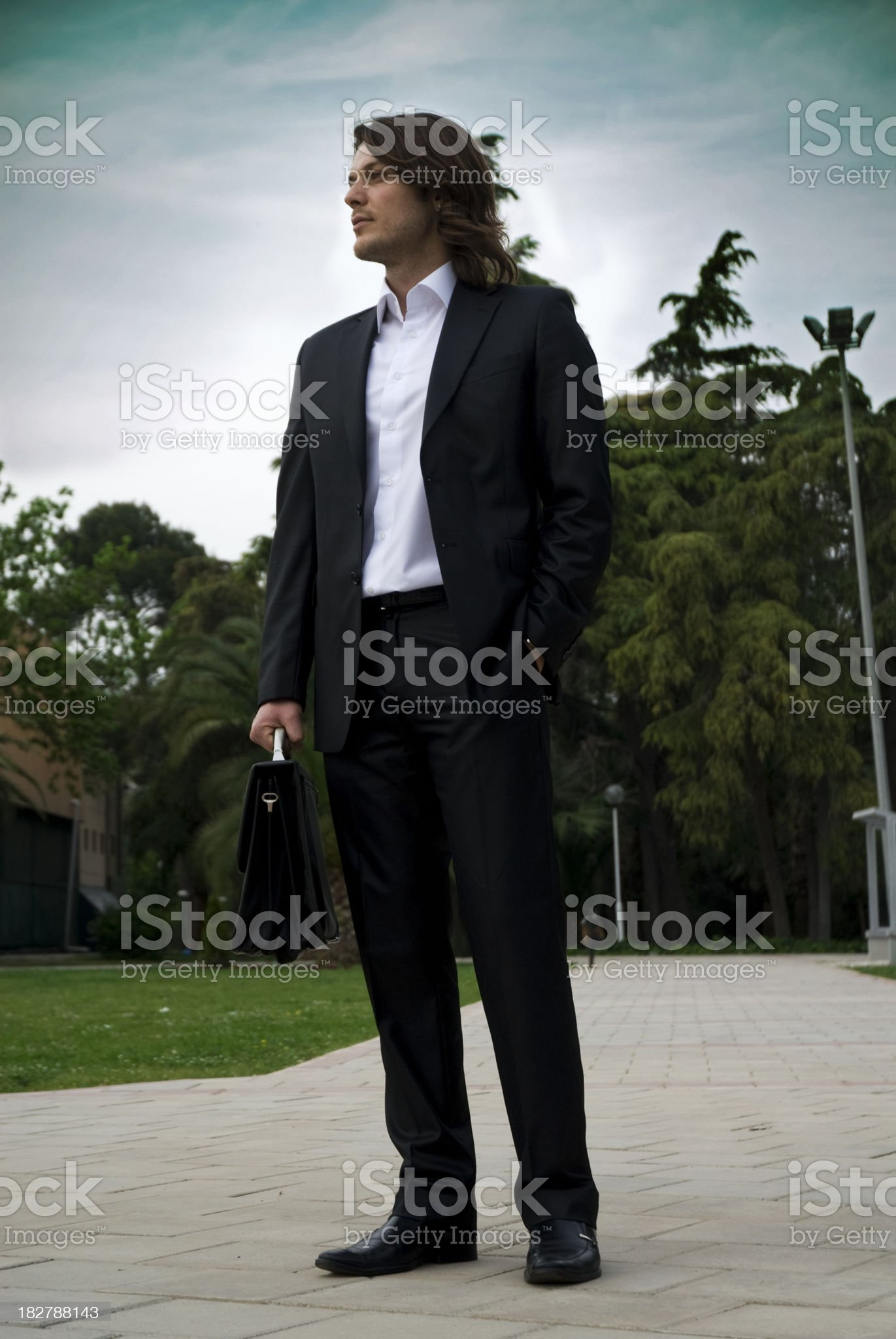 Young and attractive businessman royalty-free stock photo