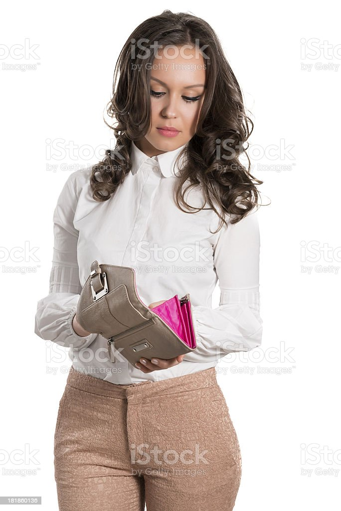 Young and Attractive Female Shopping With Her Wallet royalty-free stock photo