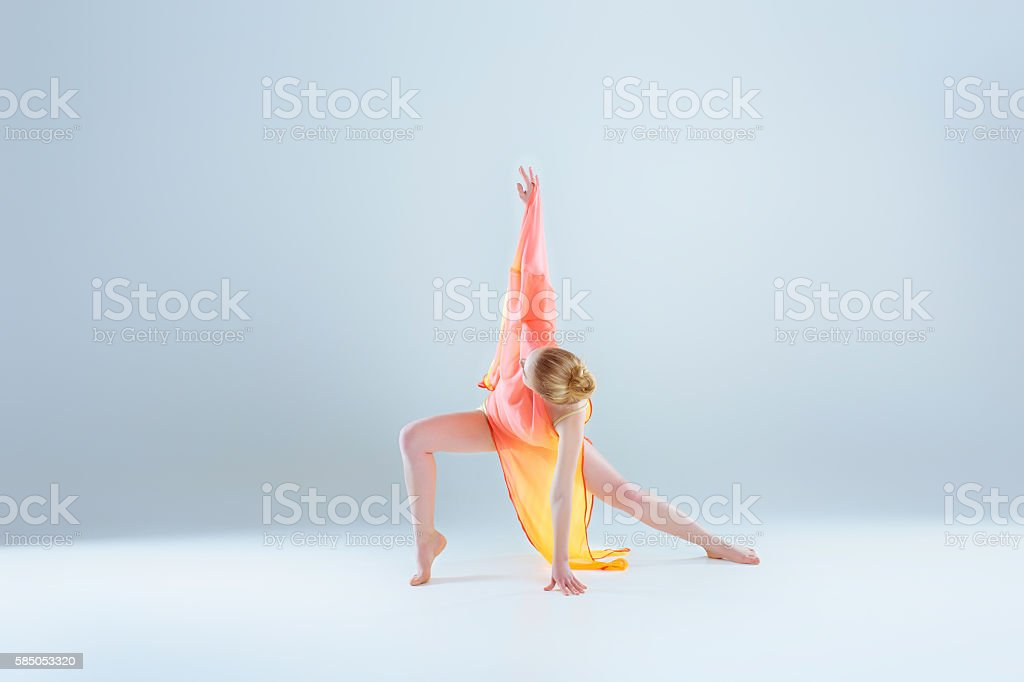 young and beautiful ballet dancer stock photo