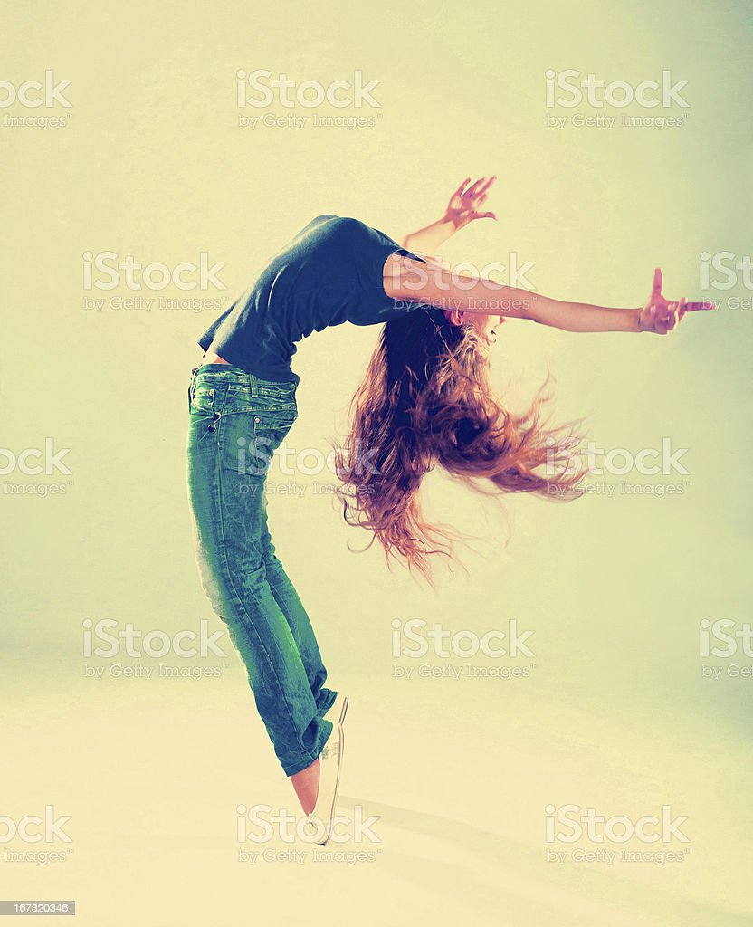 young and beautiful dancer posing royalty-free stock photo