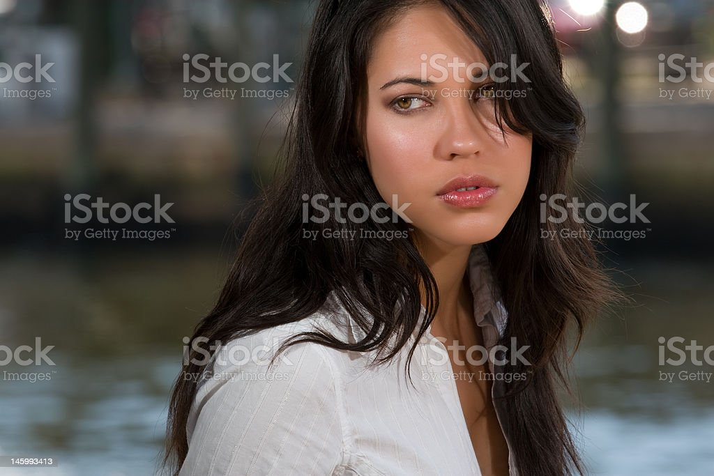 Young and beautiful executive woman stock photo