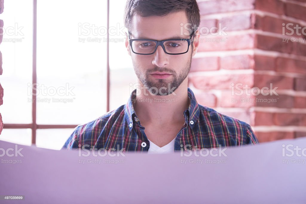 Young and confident architect. royalty-free stock photo