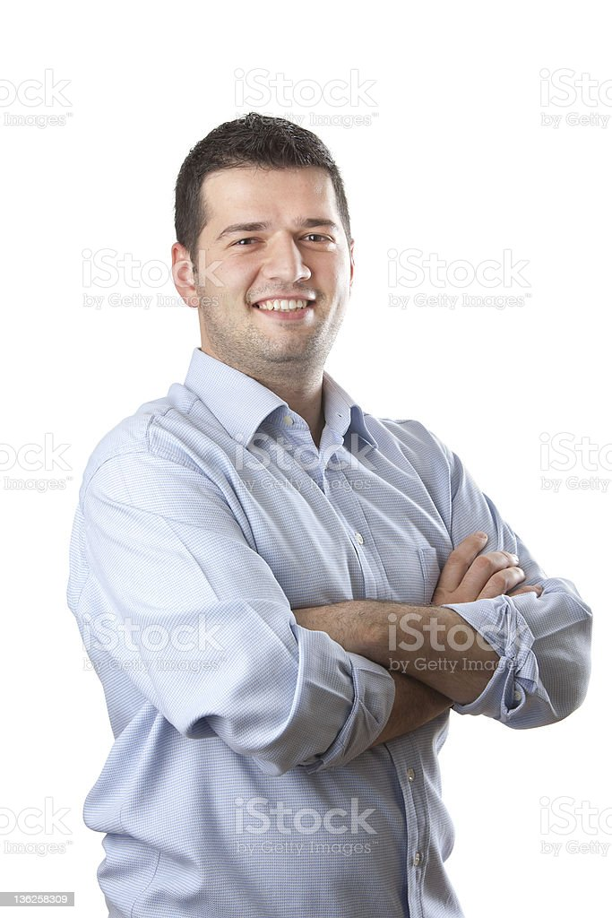 Young and confident businessman stock photo