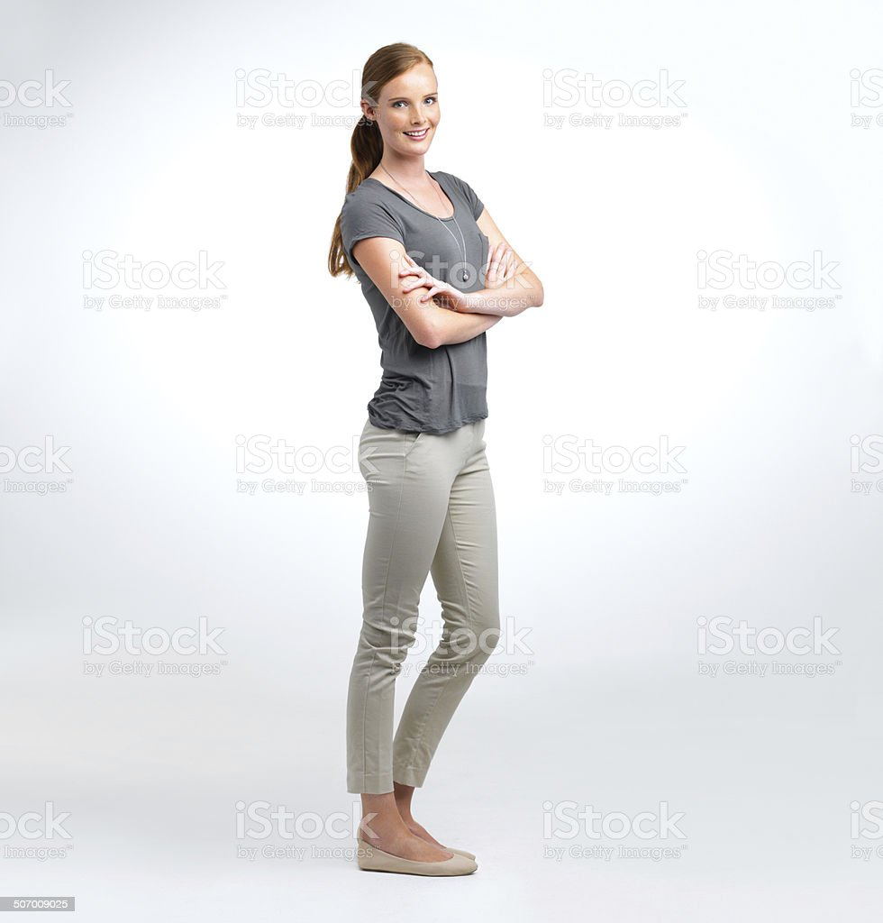 Young and confident stock photo