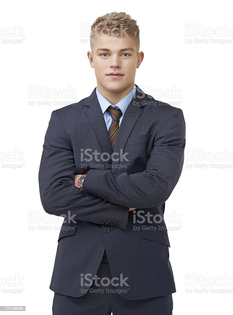 Young and determined royalty-free stock photo